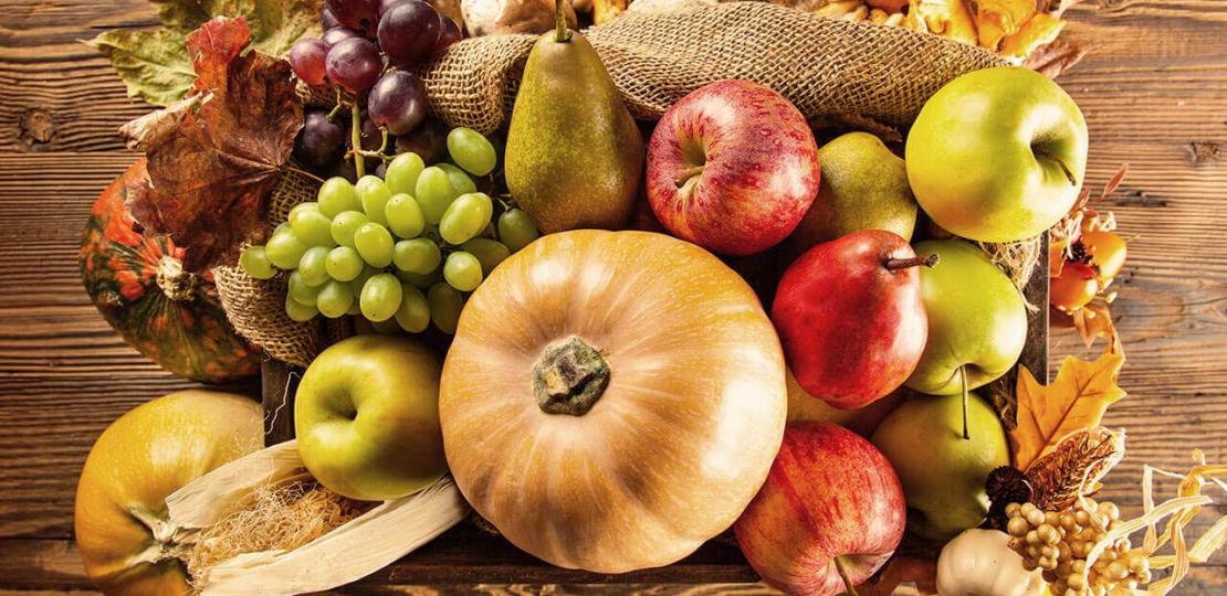 Хранителен режим с есенни плодове и зеленчуци